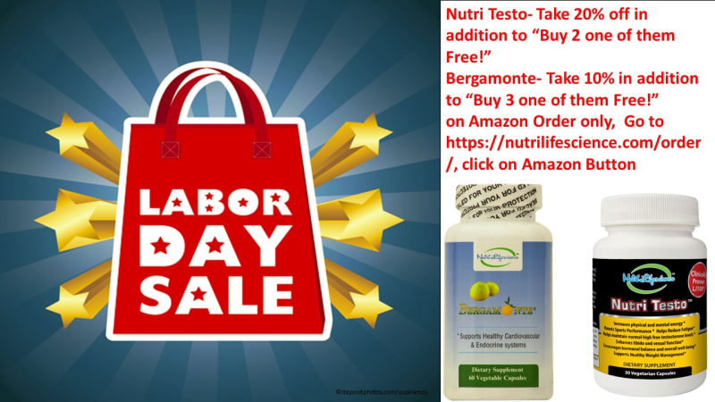 Labor Day Sale Nutri Lifescience